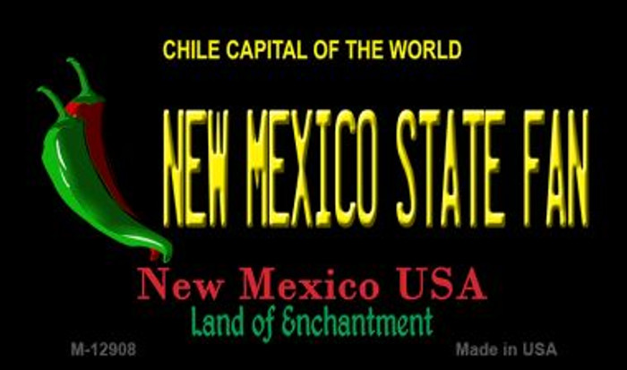 New Mexico State Fan Novelty Metal Magnet M-12908