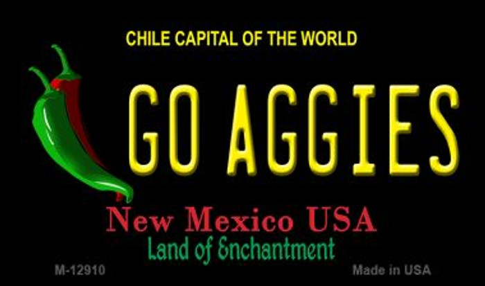 Go Aggies Novelty Metal Magnet M-12910
