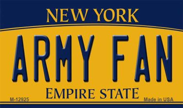 Army Fan Novelty Metal Magnet M-12925