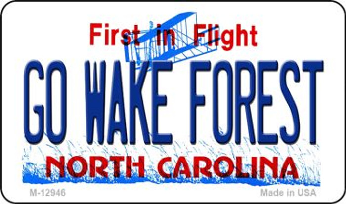 Go Wake Forest Novelty Metal Magnet M-12946