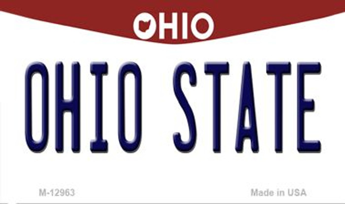 Ohio State Novelty Metal Magnet M-12963
