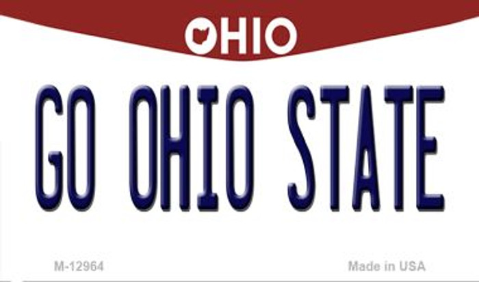 Go Ohio State Novelty Metal Magnet M-12964