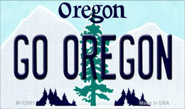 Go Oregon Novelty Metal Magnet M-12981