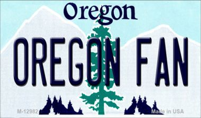 Oregon Fan Novelty Metal Magnet M-12982