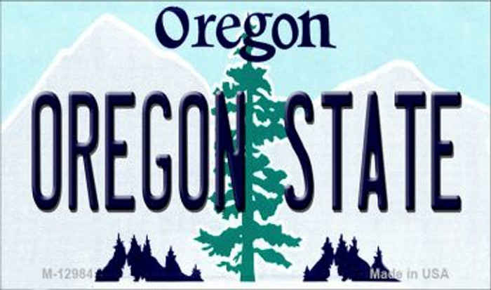 Oregon State Novelty Metal Magnet M-12984