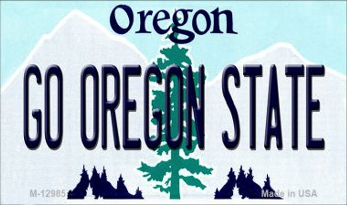 Go Oregon State Novelty Metal Magnet M-12985