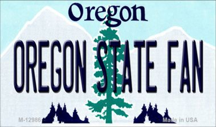 Oregon State Fan Novelty Metal Magnet M-12986