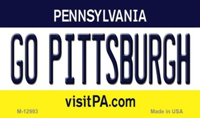 Go Pittsburgh Novelty Metal Magnet M-12993