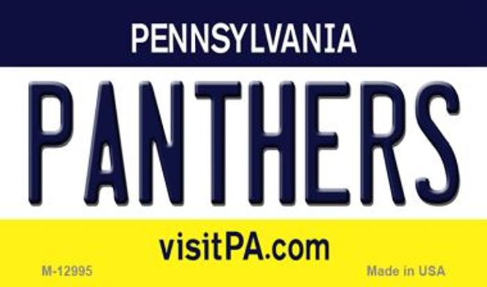 Panthers Novelty Metal Magnet M-12995