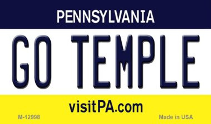 Go Temple Novelty Metal Magnet M-12998