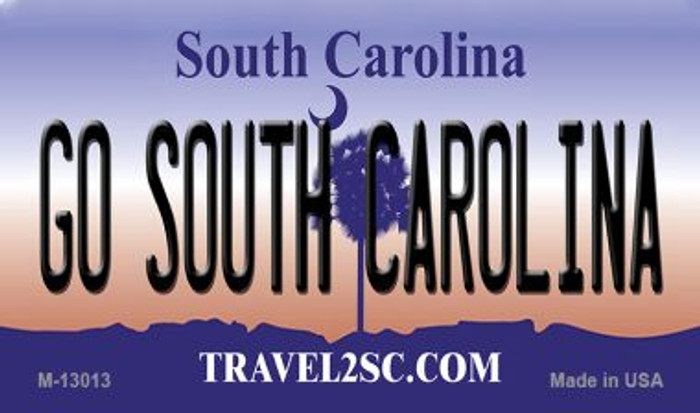 Go South Carolina Novelty Metal Magnet M-13013