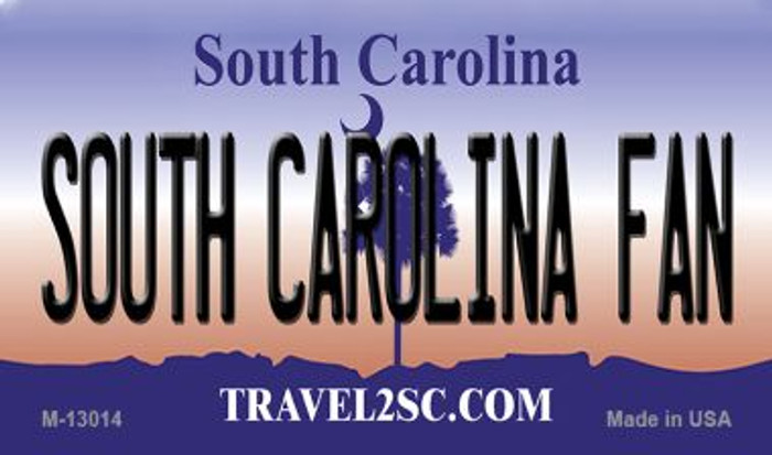 South Carolina Fan Novelty Metal Magnet M-13014