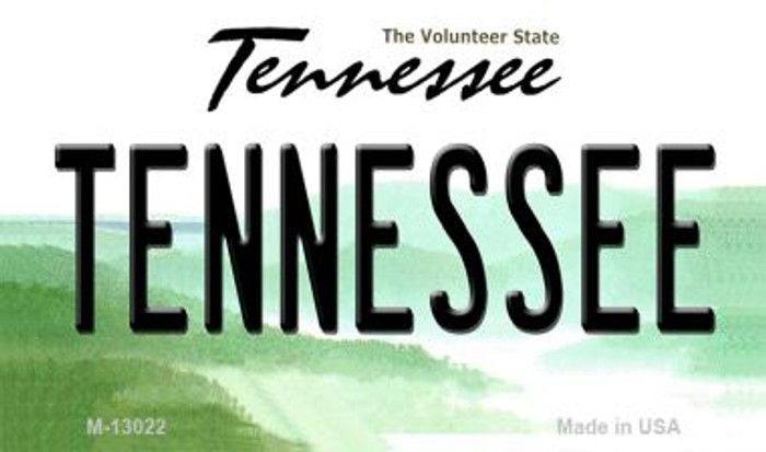 Tennessee Novelty Metal Magnet M-13022