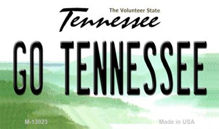 Go Tennessee Novelty Metal Magnet M-13023