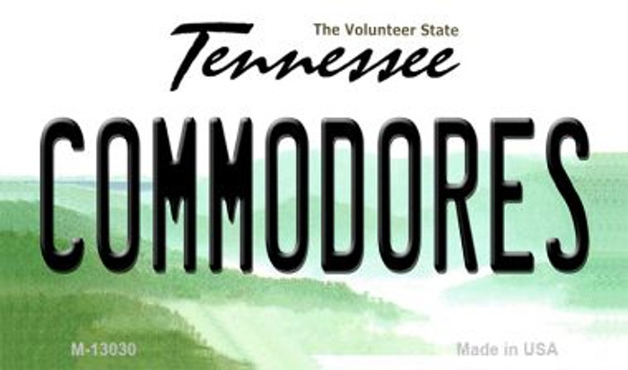Commodores Novelty Metal Magnet M-13030
