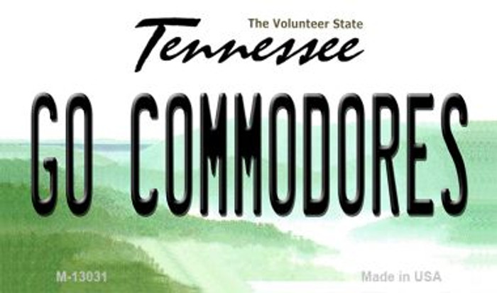Go Commodores Novelty Metal Magnet M-13031