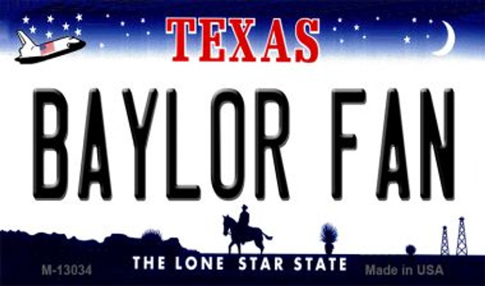 Baylor Fan Novelty Metal Magnet M-13034