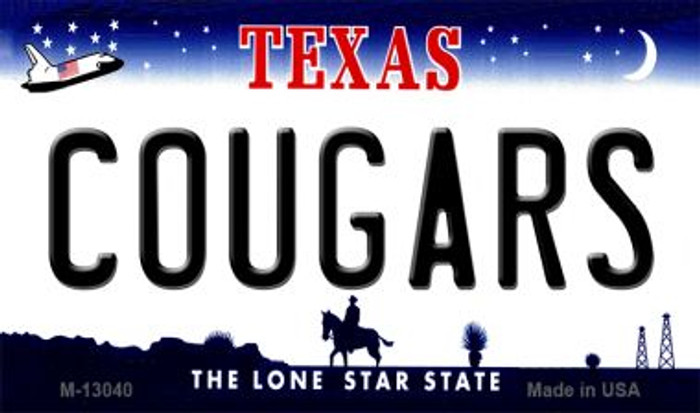 Cougars Novelty Metal Magnet M-13040