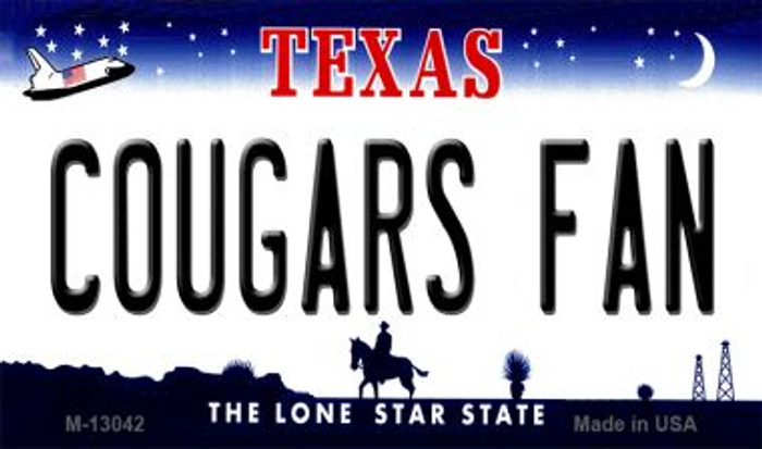 Cougars Fan Novelty Metal Magnet M-13042