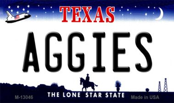 Aggies Novelty Metal Magnet M-13046