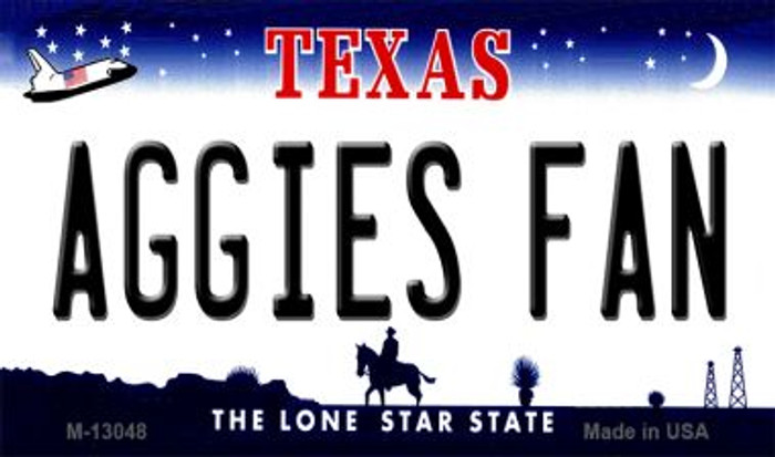 Aggies Fan Novelty Metal Magnet M-13048