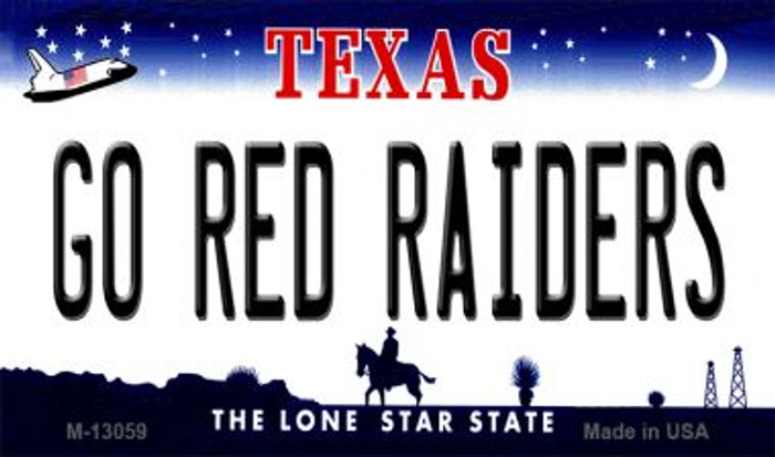 Go Red Raiders Novelty Metal Magnet M-13059