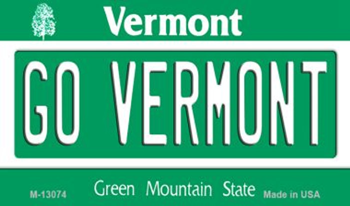 Go Vermont Novelty Metal Magnet M-13074