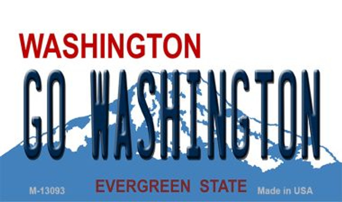 Go Washington Novelty Metal Magnet M-13093