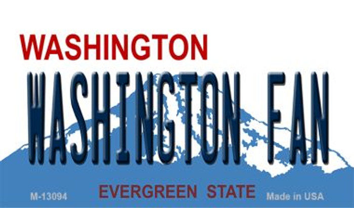 Washington Fan Novelty Metal Magnet M-13094