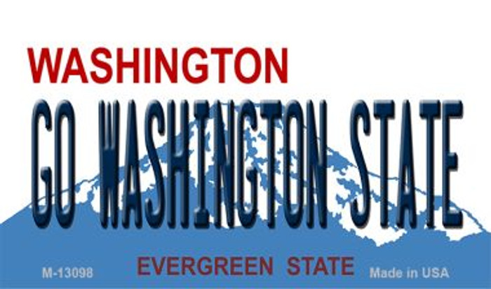 Go Washington State Novelty Metal Magnet M-13098