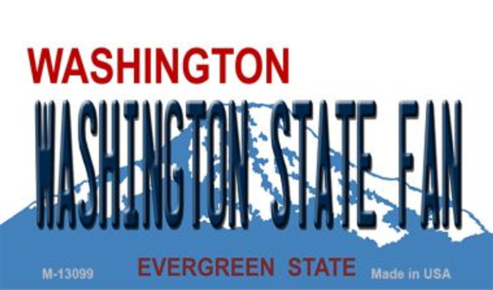 Washington State Fan Novelty Metal Magnet M-13099