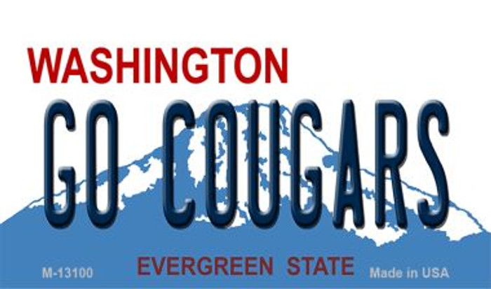 Go Cougars Novelty Metal Magnet M-13100