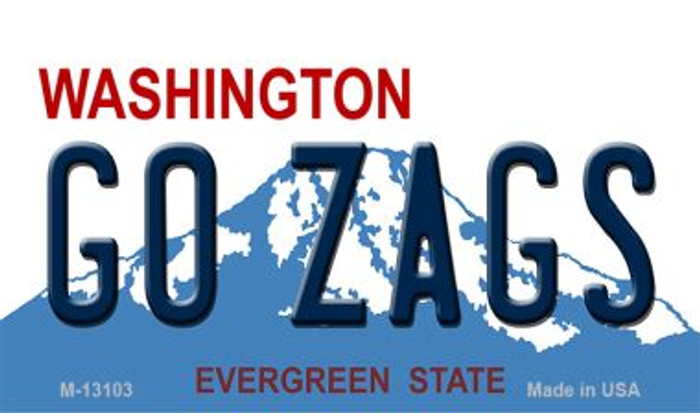 Go Zags Novelty Metal Magnet M-13103