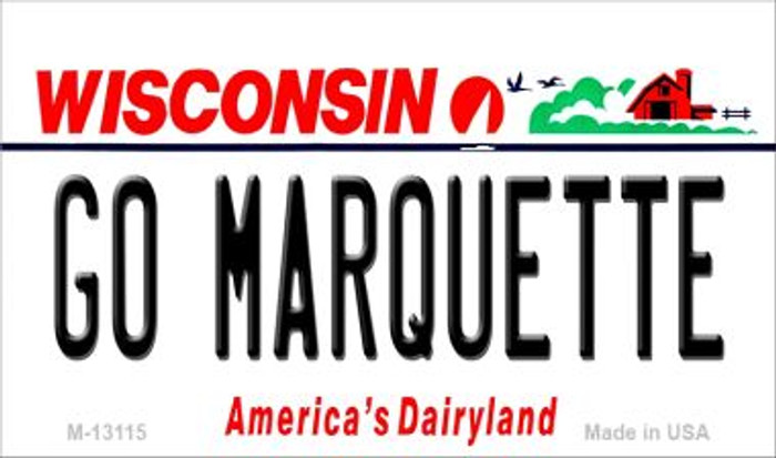 Go Marquette Novelty Metal Magnet M-13115