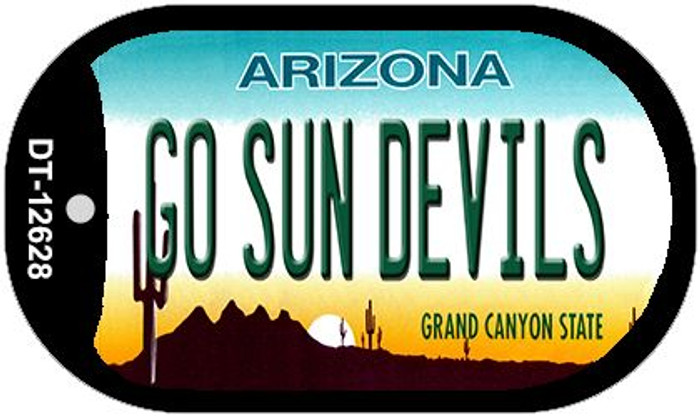 Go Sun Devils Novelty Metal Dog Tag Necklace DT-12628