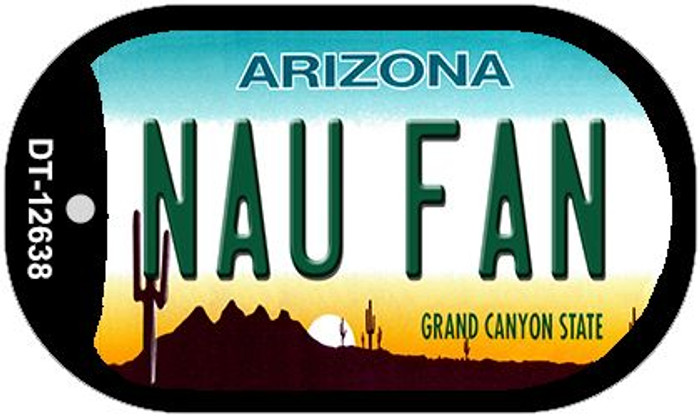 Northern Arizona Univ Fan Novelty Metal Dog Tag Necklace DT-12638