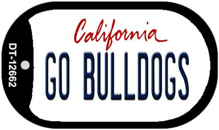 Go Bulldogs Novelty Metal Dog Tag Necklace DT-12662