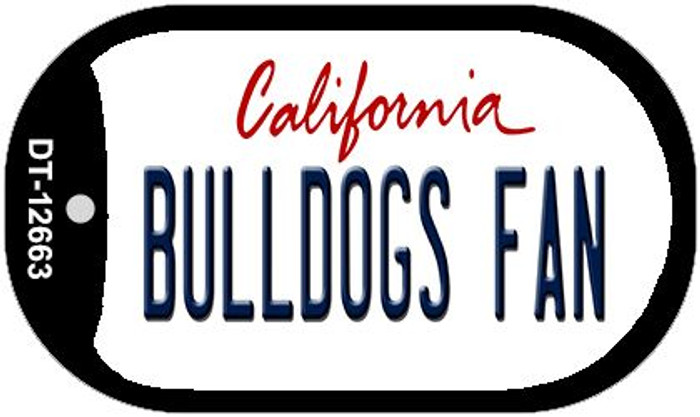 Bulldogs Fan Novelty Metal Dog Tag Necklace DT-12663