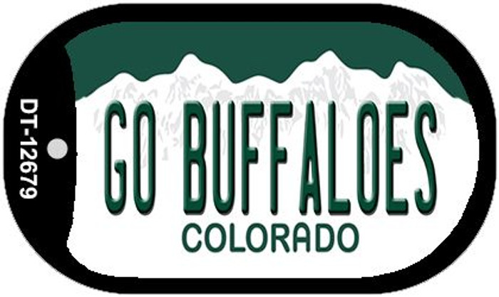 Go Buffaloes Novelty Metal Dog Tag Necklace DT-12679