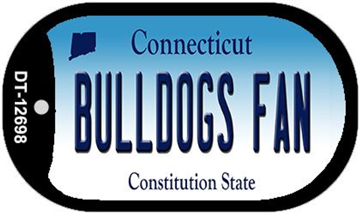 Bulldogs Fan Novelty Metal Dog Tag Necklace DT-12698