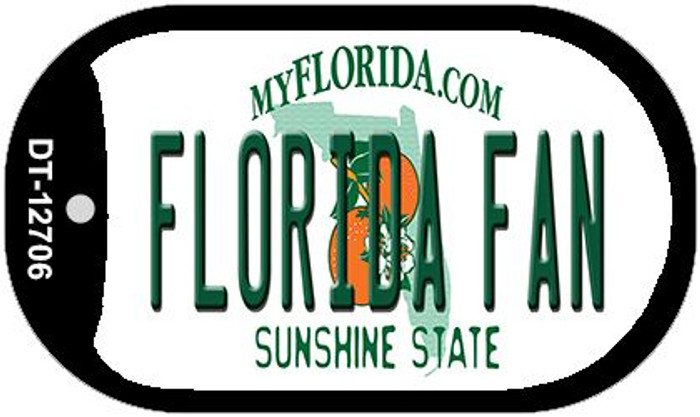 Florida Fan Novelty Metal Dog Tag Necklace DT-12706