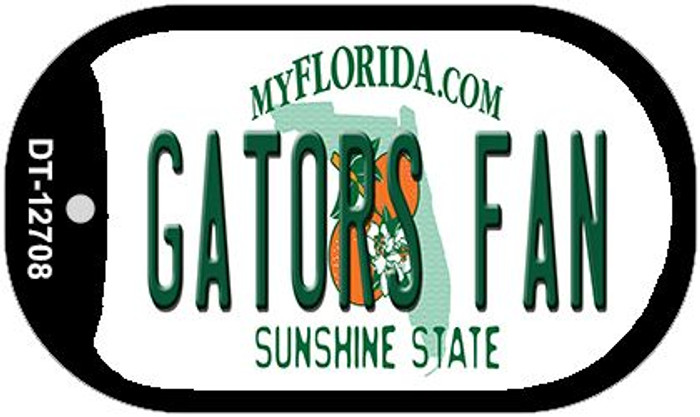 Gators Fan Novelty Metal Dog Tag Necklace DT-12708