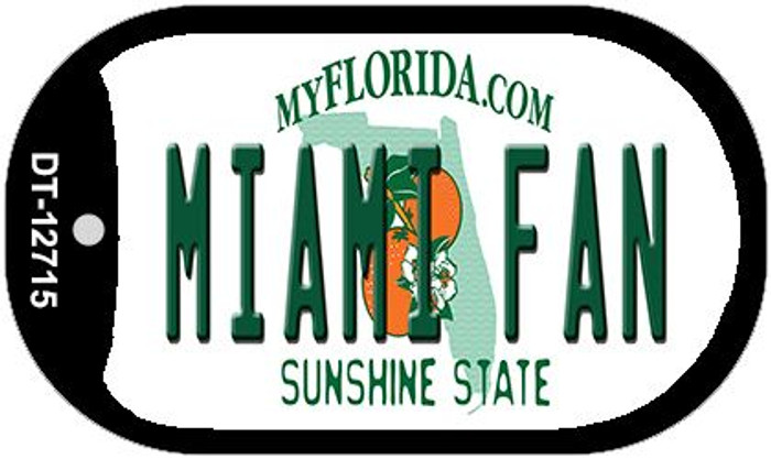 Miami Fan Novelty Metal Dog Tag Necklace DT-12715