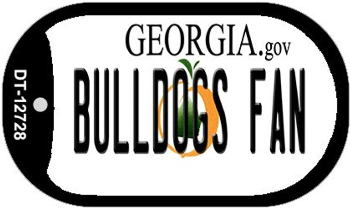 Bulldogs Fan Novelty Metal Dog Tag Necklace DT-12728