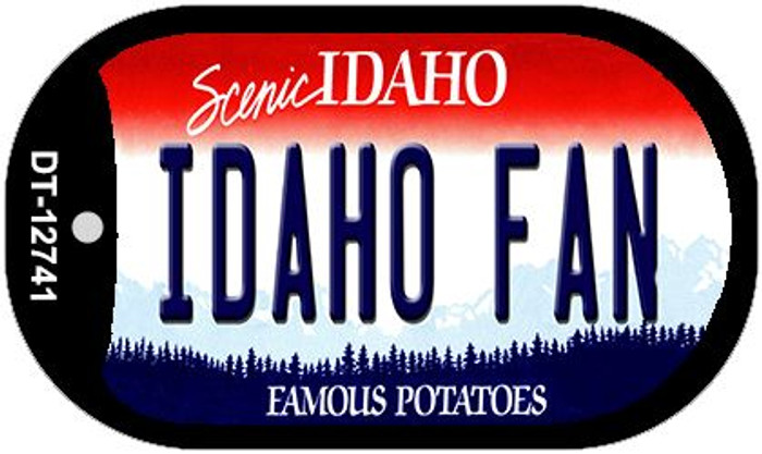 Idaho Fan Novelty Metal Dog Tag Necklace DT-12741
