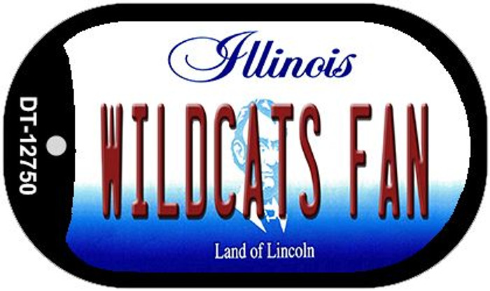 Wildcats Fan Novelty Metal Dog Tag Necklace DT-12750