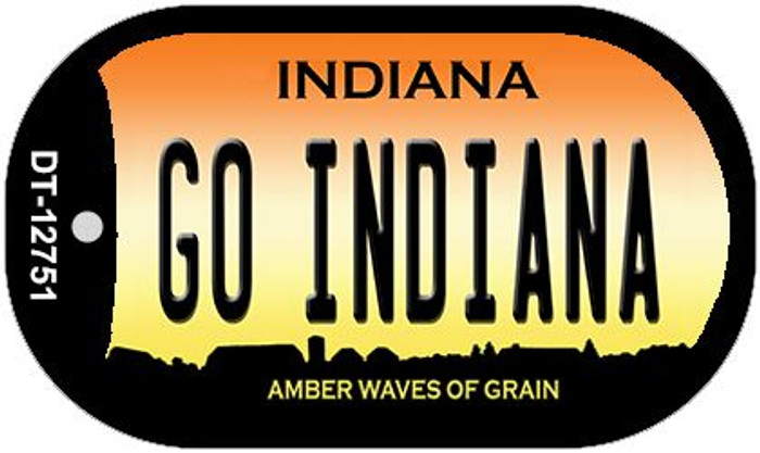 Go Indiana Novelty Metal Dog Tag Necklace DT-12751