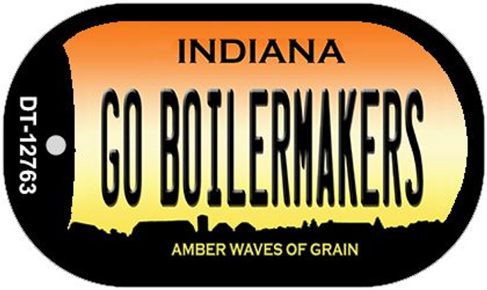 Go Boilermakers Novelty Metal Dog Tag Necklace DT-12763