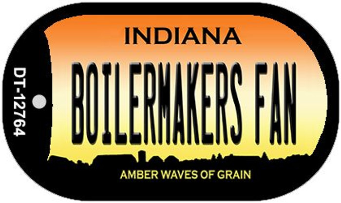 Boilermakers Fan Novelty Metal Dog Tag Necklace DT-12764