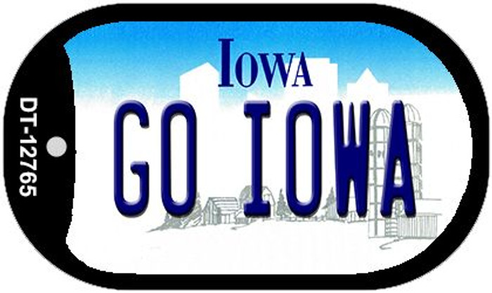 Go Iowa Novelty Metal Dog Tag Necklace DT-12765